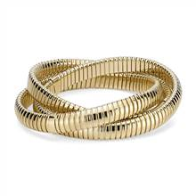 Triple Interlocking Bracelets in 18k Italian Yellow Gold | Blue Nile