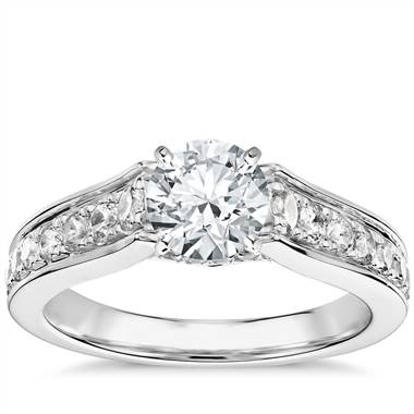 Truly Zac Posen Graduated Pave Diamond Engagement Ring in Platinum