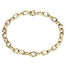 """Twisted Link Necklace in 14k Italian Yellow Gold "" 