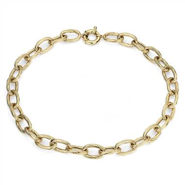 """Twisted Link Necklace in 14k Italian Yellow Gold """