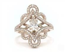 Vintage Floral & Open Split Pave Engagement Ring in 2.5mm 14K White Gold (Setting Price) | James Allen