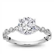 Vintage Leaf  Diamond Engagement Setting | Adiamor