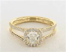 Wide Split Shank Halo Engagement Ring in 2.4mm 14K Yellow Gold (Setting Price) | James Allen