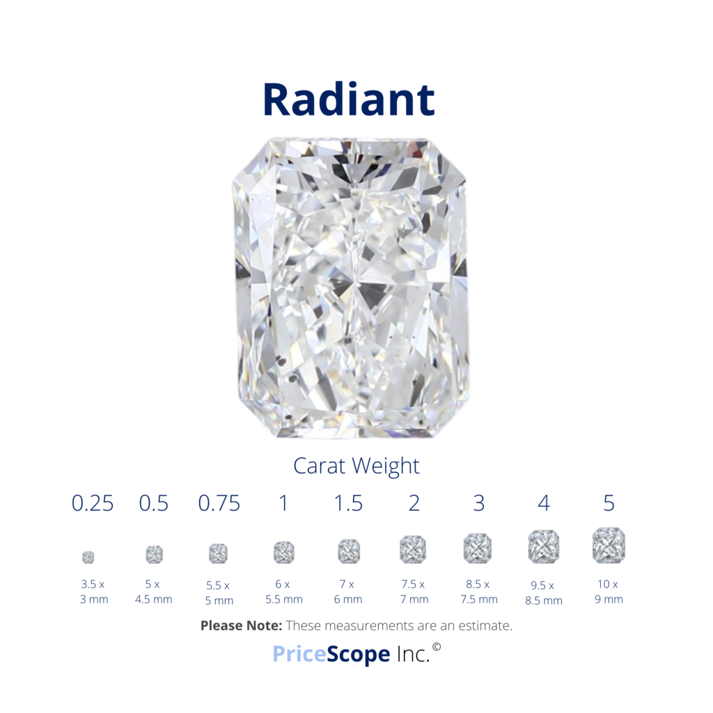 Radiant Cut Diamond Size Comparison