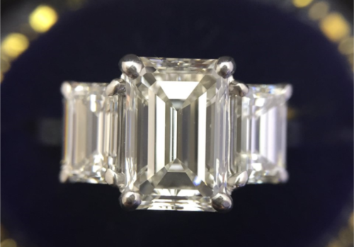 2.10 H/VVS2, 1.50 tcw emerald cut H/VSI sides stones posted by Iburn