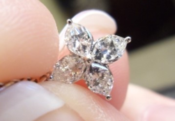 A Delicate Flower Diamond Pendant