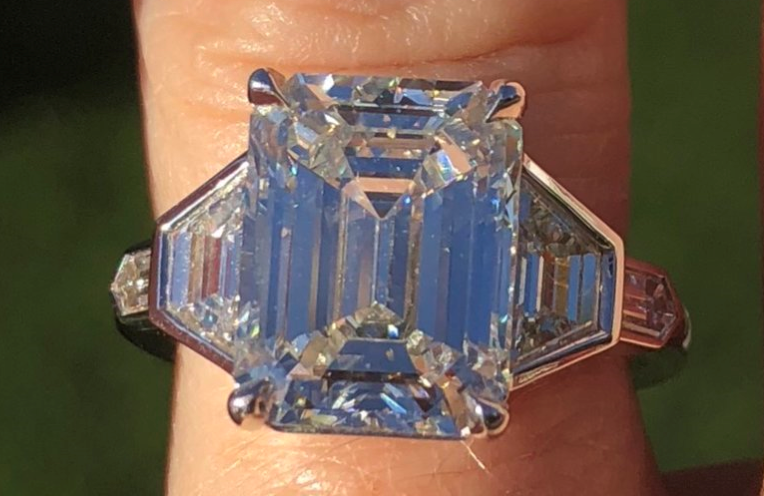 An Extraordinary Emerald Cut Diamond Ring Upgrade