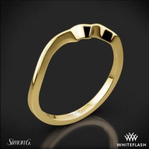 Simon G. Duchess classic wedding ring set in 18K yellow gold at Whiteflash