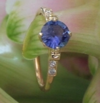 Lovely color changing sapphire