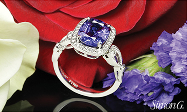 The Simon G. TR526 Passion Diamond Halo Engagement Ring