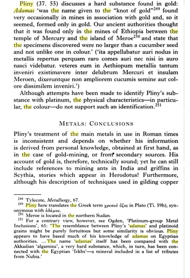 "Pliny the Elder (23-79 AD) wrote in his ""Naturalis Historia"" (Natural History book XXXVII)"