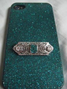 The original brooch that held the zircon