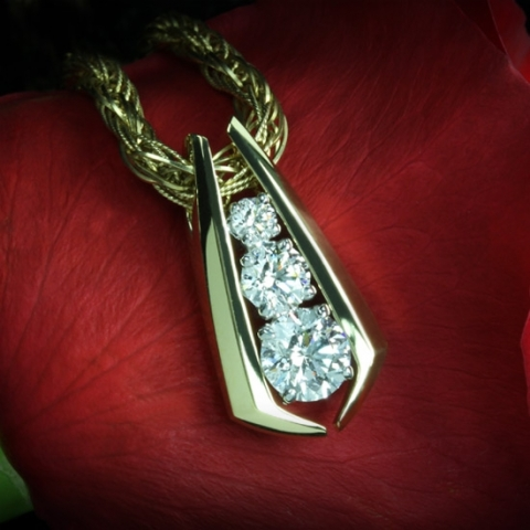 Stunning Custom Diamond Pendant