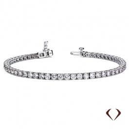 Diamond bracelet set in 14K white gold at I.D. Jewelry