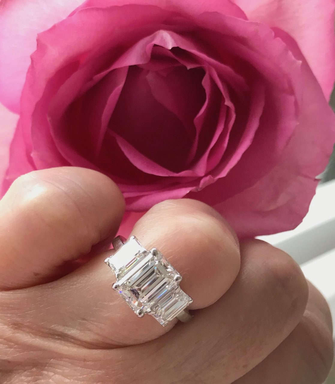 20 Year Anniversary Emerald Cut Diamond Ring