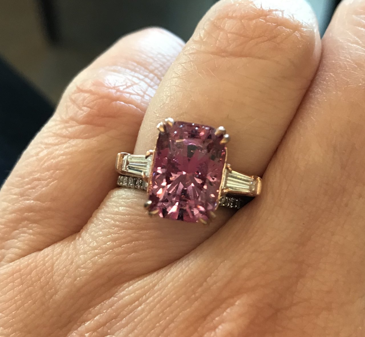 A Pop of Pink Spinel!