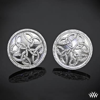 Prodigy cufflinks set in 14K white gold at Whiteflash