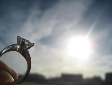 CantaPiana originally Custom Princess Cut Engagement Ring on the Show Me the Bling forum at PriceScope. A wonderful surprise beach engagement with a stunning ring designed for her by her intended.