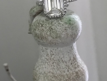 Emeraldcutlover originally posted this stunning emerald cut diamond ring on the Show Me the Bling Forum at PriceScope. You can't look at this and not be enamored. This beautiful ring makes me want to add an emerald to my own collection.