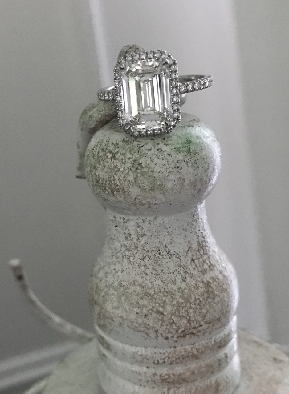 Elegant Emerald Cut Diamond Ring