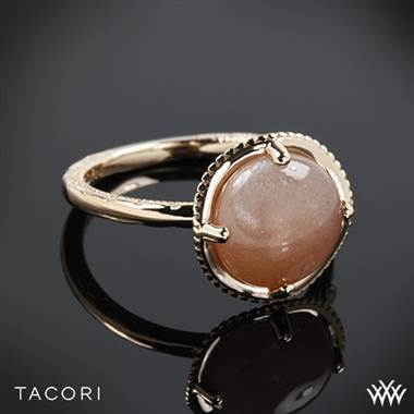 Tacori moon rose right hand ring set in 18K rose gold with silver accents at Whiteflash