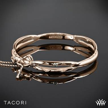Tacori 18K rose gold promise bracelet with with sterling silver accents at Whiteflash
