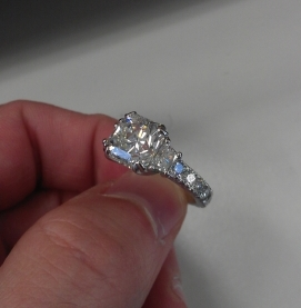 """DradiantR originally posted this fabulous radiant engagement ring on the Show Me the Bling forum at PriceScope. This is a """"Making of,"""" journey to bring us through all the steps leading up to a gorgeous ring that we sure hope garnered a big YES!"""