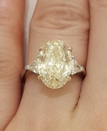 Lemony Yellow Engagement Ring