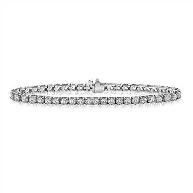 Diamond tennis line bracelet set in 14K white gold at B2C Jewels