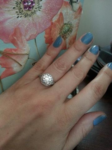 A fantasy on her finger!