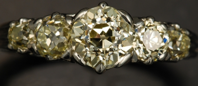 Yellow Diamond 5 Stone