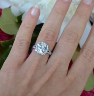 2.3 ct OEC Engagement RIng