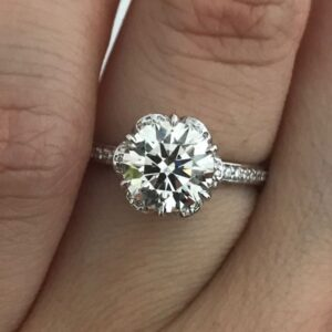 CBI Diamond in Floral Setting