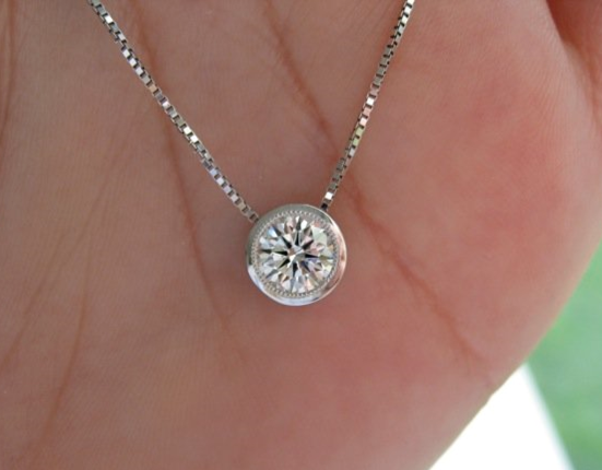 Birthday Diamond Solitaire Pendant