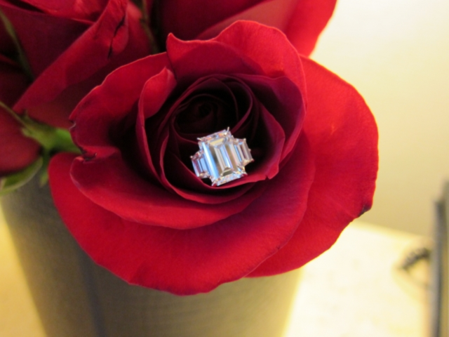 An Emerald Cut Engagement