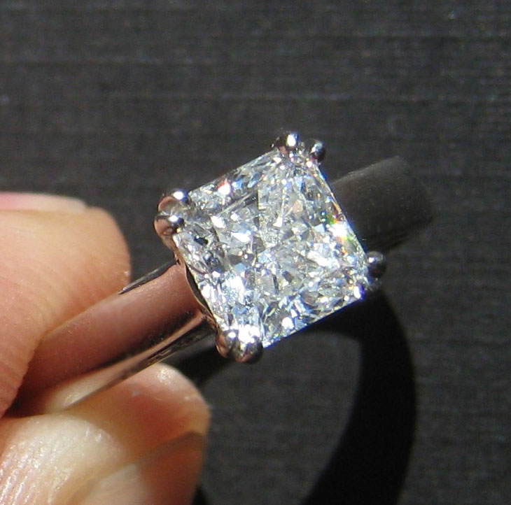 WF Radiant Custom Engagement Ring