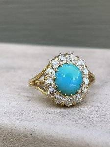 Turquoise pin conversion - posted by eh613c image
