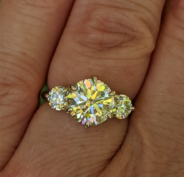 Three-stone engagement ring upgrade
