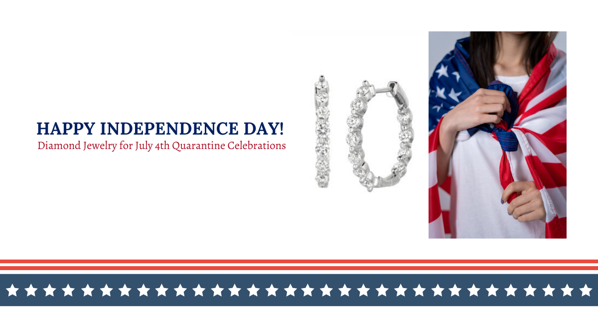 Diamond Jewelry For 4th Of July Quarantine Celebrations