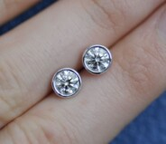 Handmade diamond studs