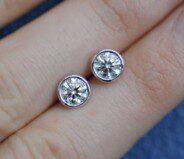 Handmade diamond studs