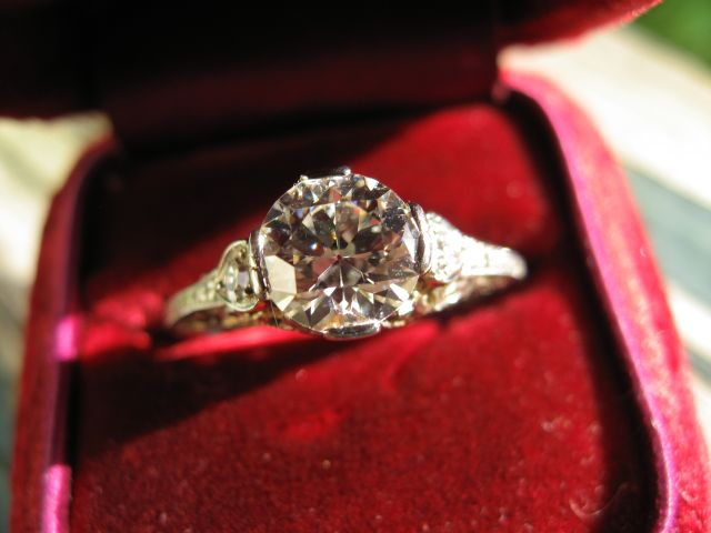 Heirloom diamond engagement ring