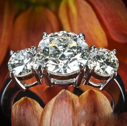3 -Stone Diamond WF Ring