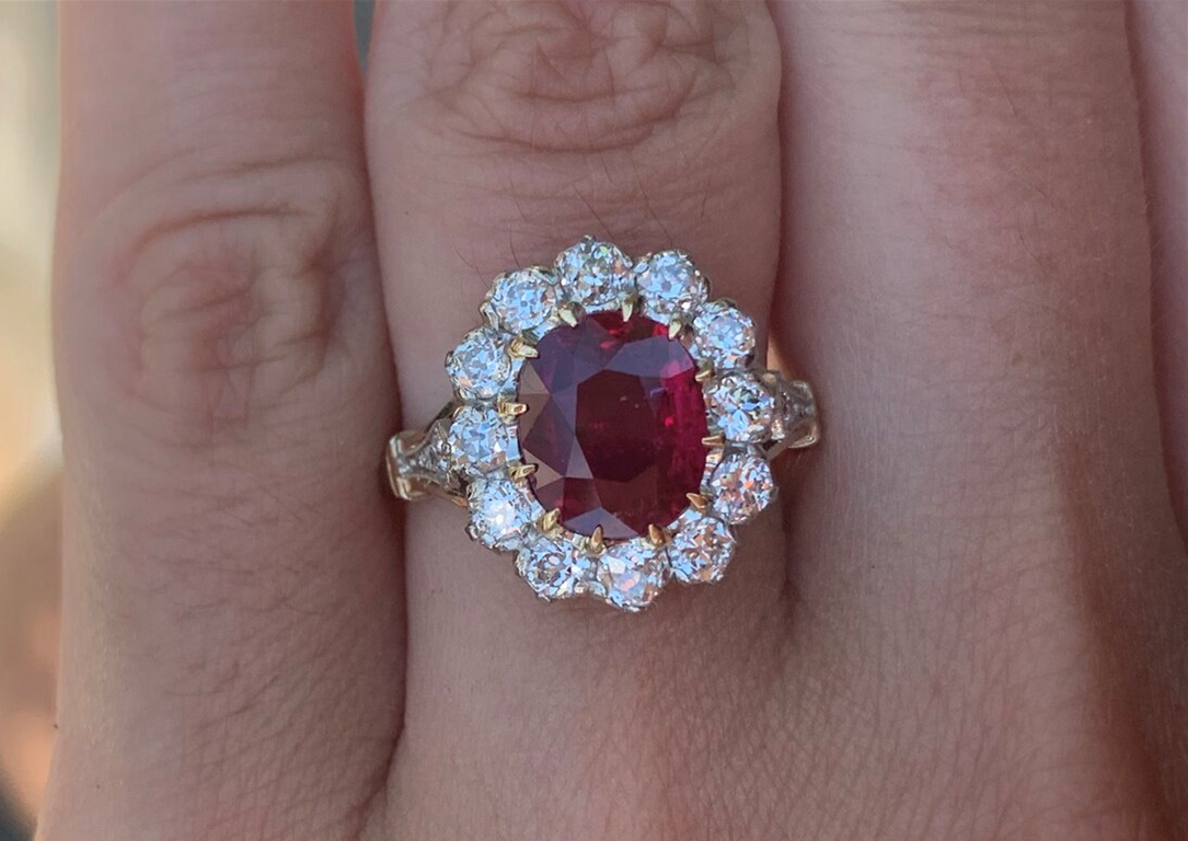 Radiant Ruby Cluster Ring