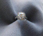 3ct Round Engagement Ring Upgrade