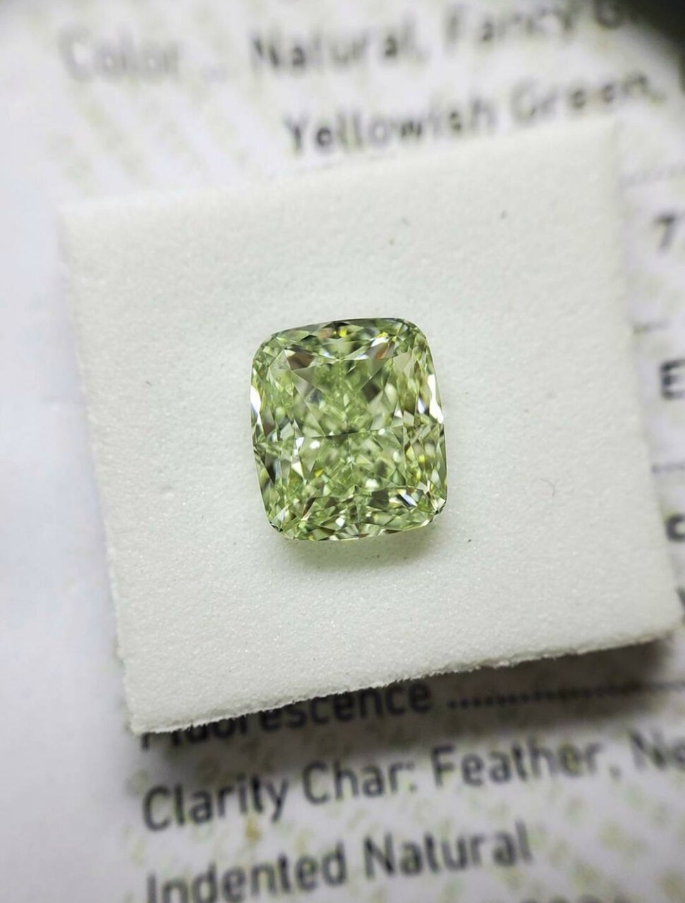 Fancy Greyish Yellowish Green Diamond