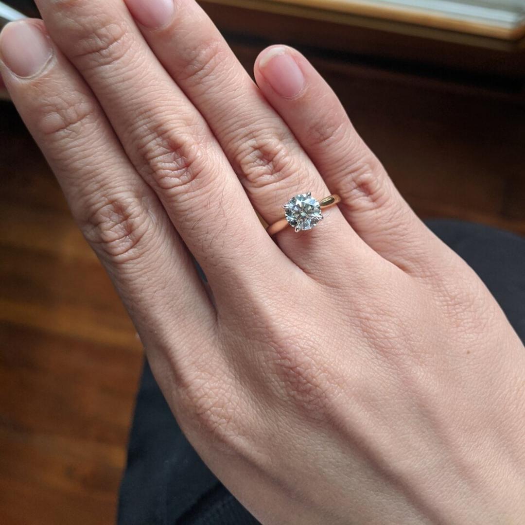 An Excellent K Color Graded Diamond