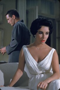 Paul Newman and Elizabeth Taylor starring in Cat On A Hot Tin Roof in 1958.