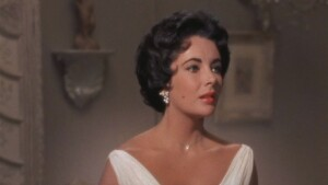 Close up shot of Elizabeth Taylor starring in Cat on a Hot Tin Roof.