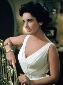 Elizabeth Taylor starring in Cat On A Hot Tin Roof in 1958.